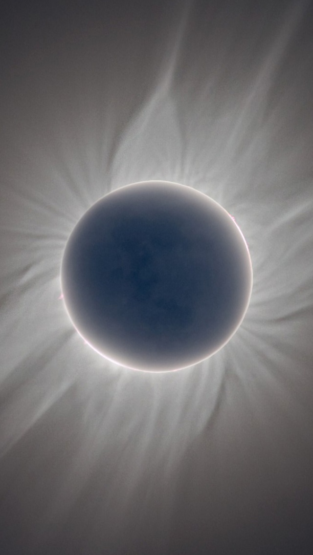 640x1136 NASA Total Solar Eclipse Iphone 5 Wallpaper