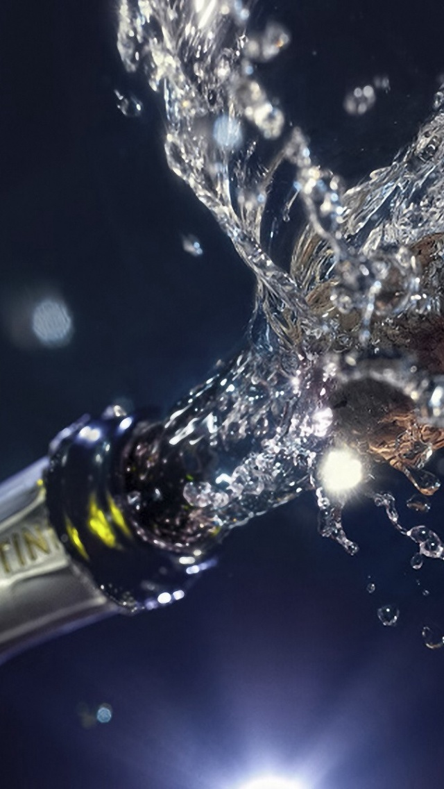640x1136 new year champagne iphone 5 wallpaper
