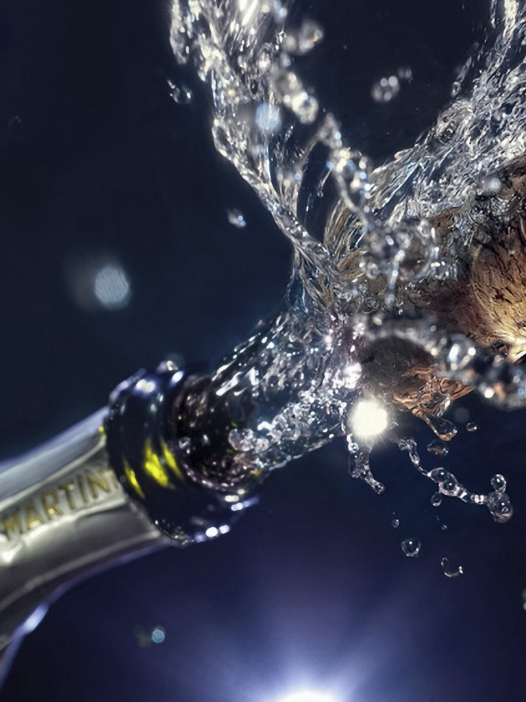 768x1024 new year champagne ipad mini wallpaper