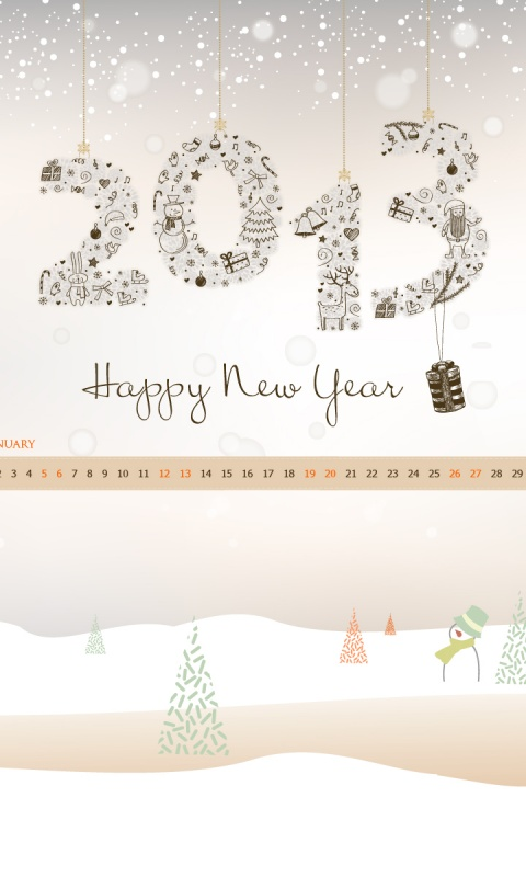 480x800 New Year