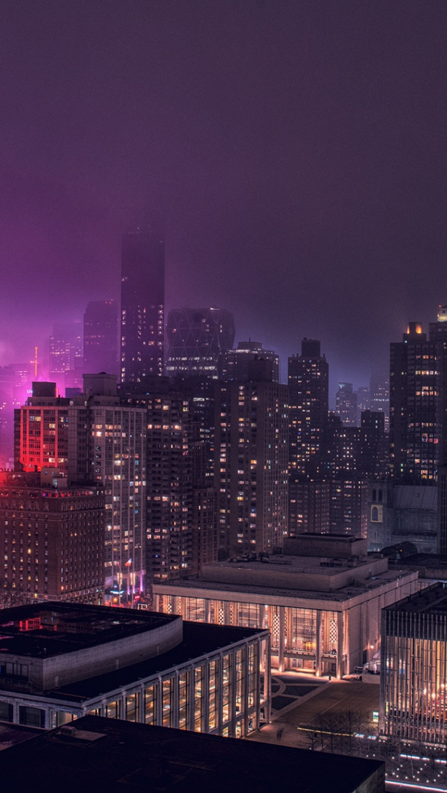 640x1136 New York At Night New York City Usa World Iphone 5 Wallpaper
