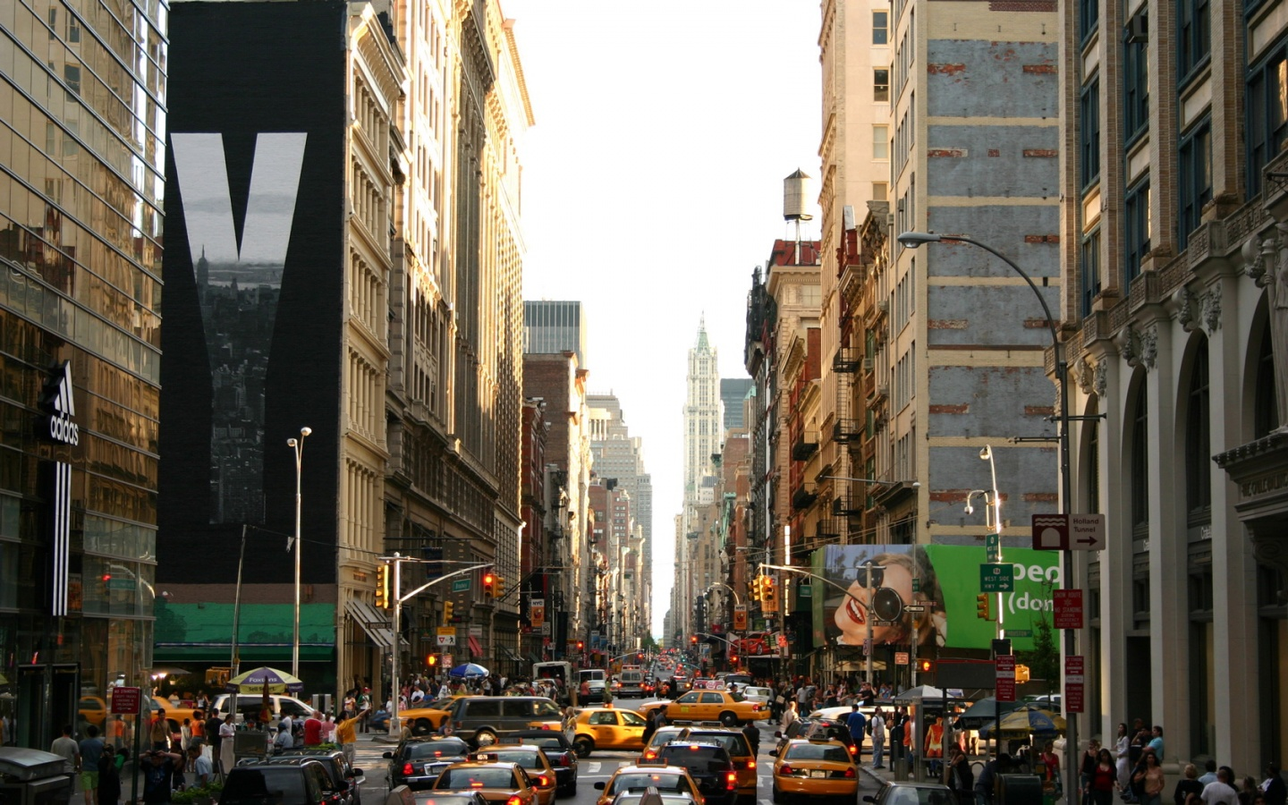 1440x900 new york city street desktop pc and mac wallpaper
