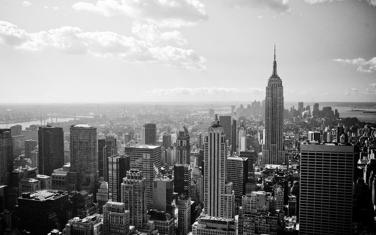 1280x800 new york greyscale desktop pc and mac wallpaper