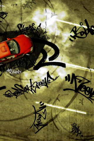 320x480 NFS red car marks
