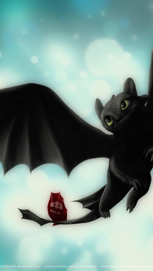 640x1136 Night Fury Toothless Iphone 5 Wallpaper