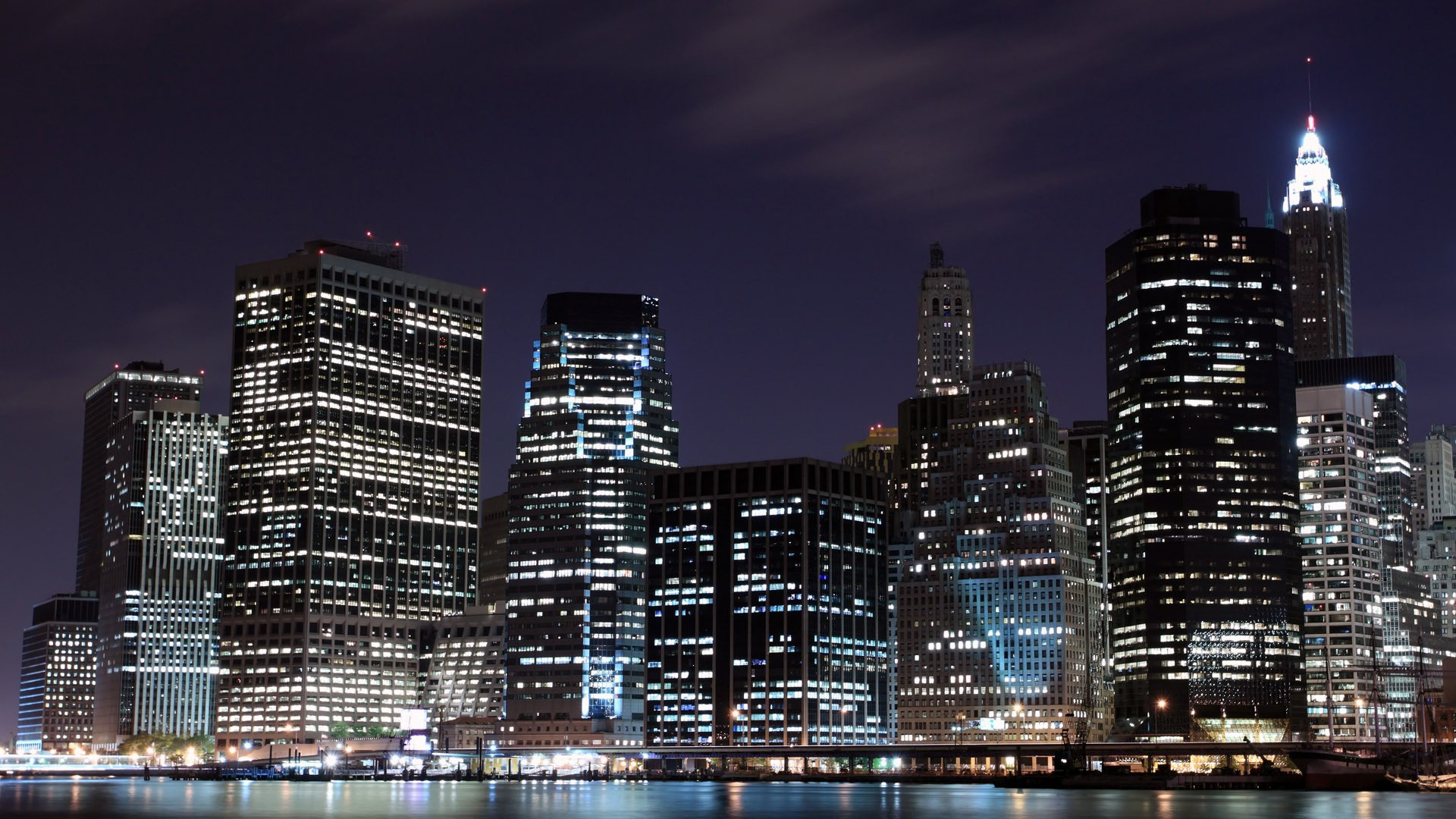 1920x1080 Night In New York City Desktop Pc And Mac Wallpaper