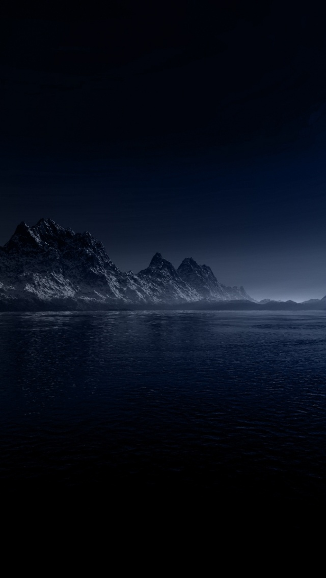 Beautiful Wallpaper Night Iphone 5 - night-moon-mountains--sea_wallpapers_40781_640x1136  Best Photo Reference-828420.jpg