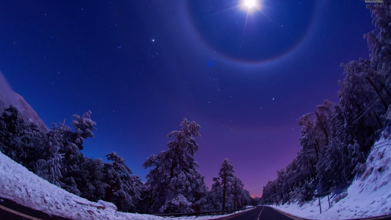1366x768 mountain night stars - photo #15