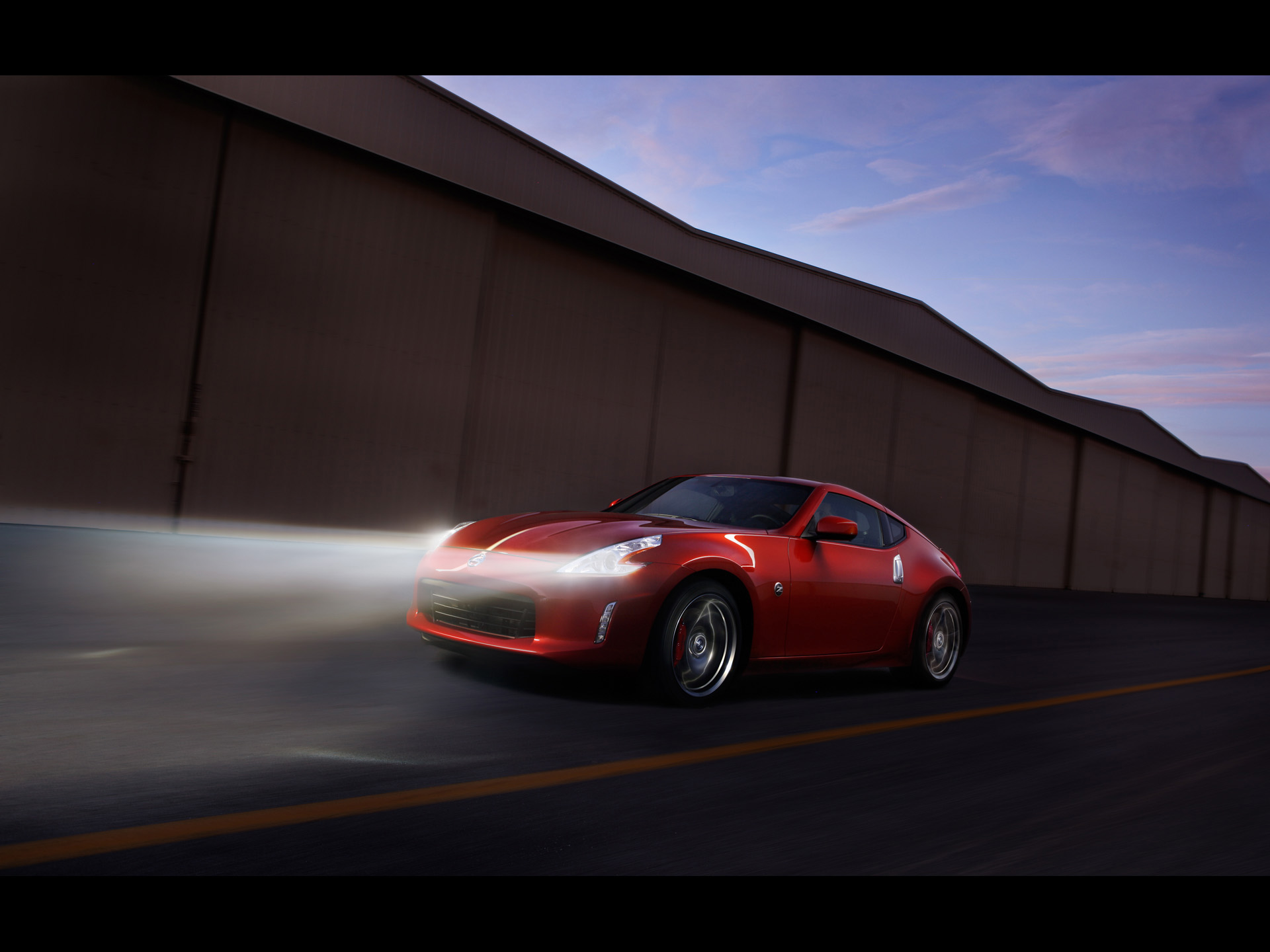 Nissan 370z Magma Red Night Wallpapers
