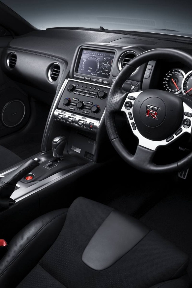 640x960 nissan gt r r35 interior iphone 4 wallpaper for Interior iphone x