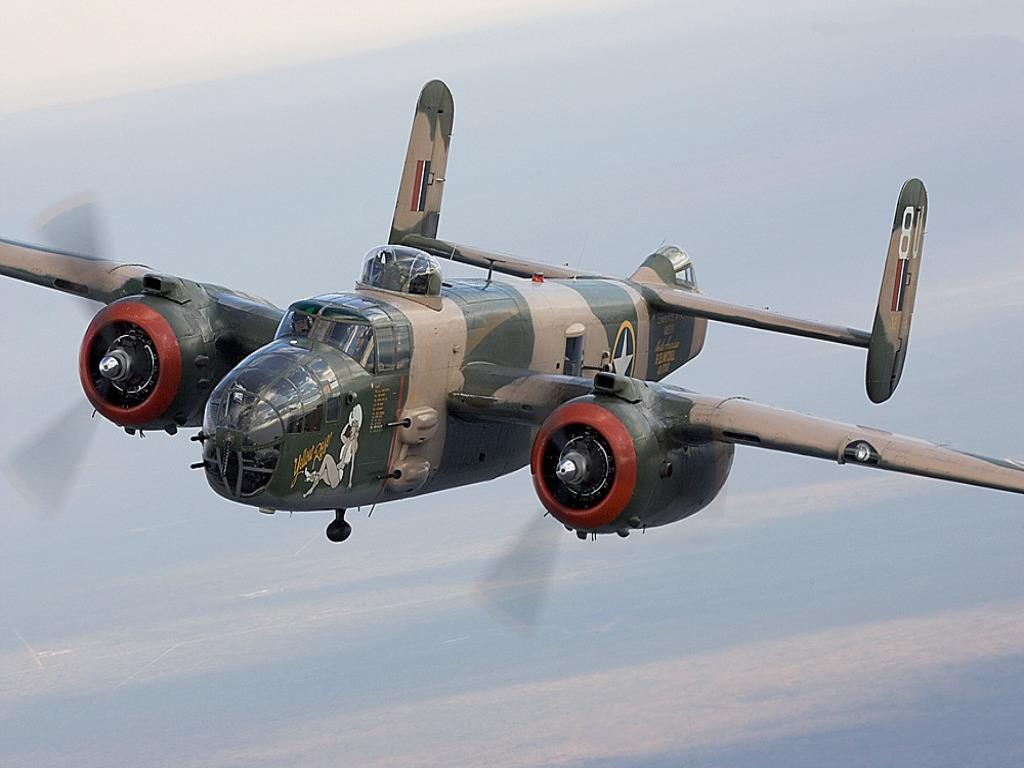 1024x768 North American B-25J Mitchell