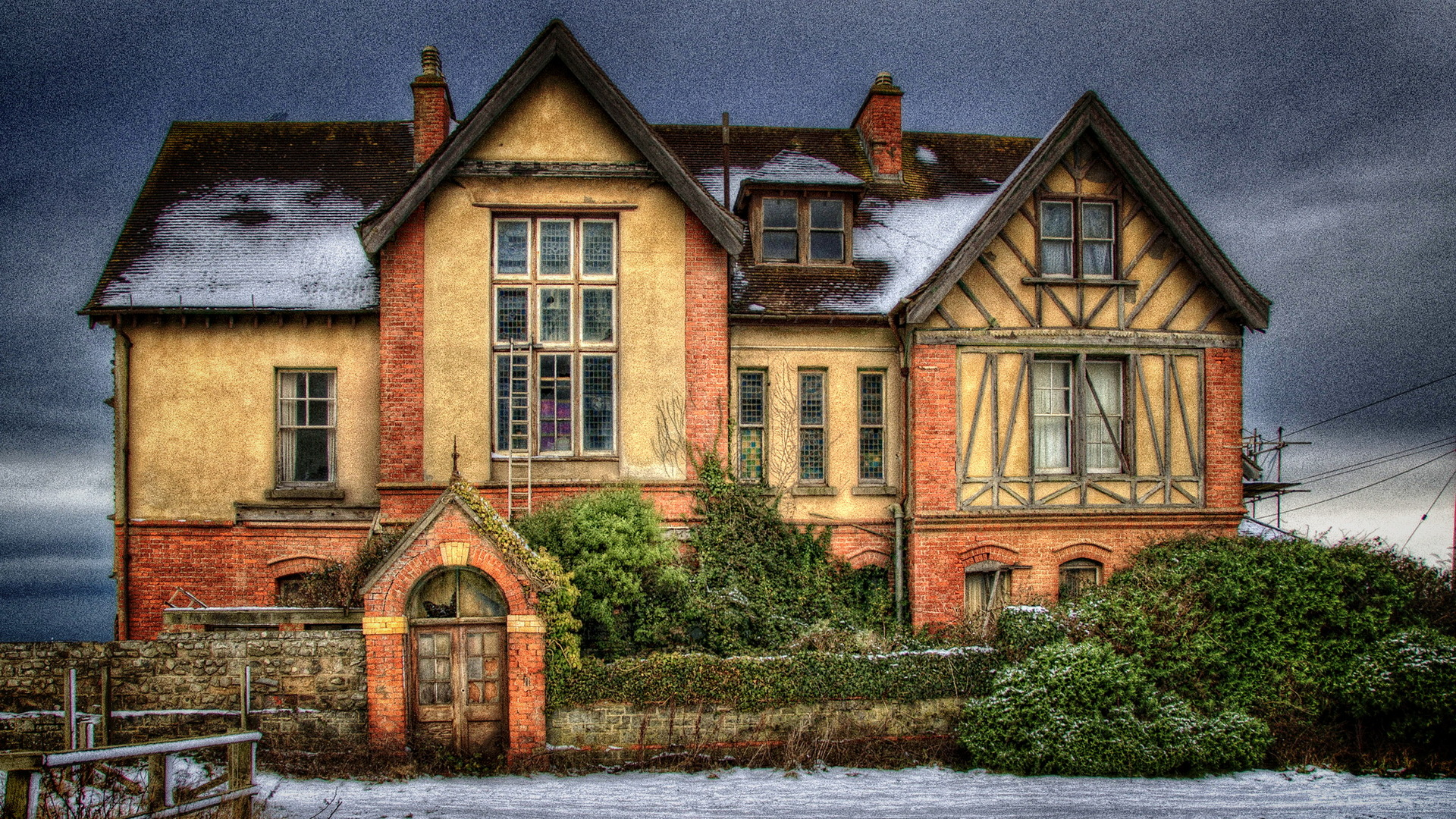 1920x1080 old english mansion bush wall desktop pc and mac for Wallpaper home england