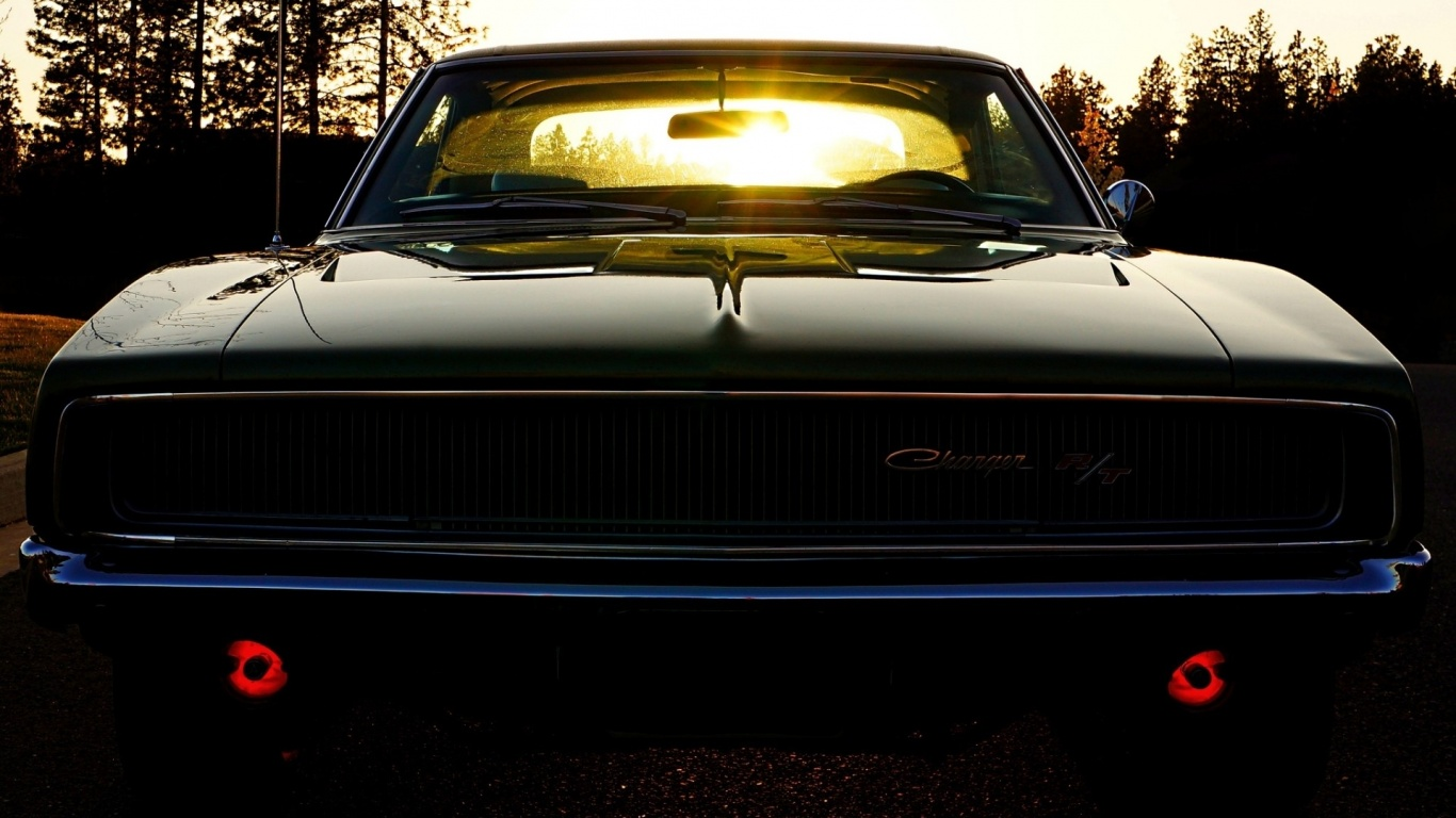 1366x768 Old School Dodge Charger desktop PC and Mac wallpaper