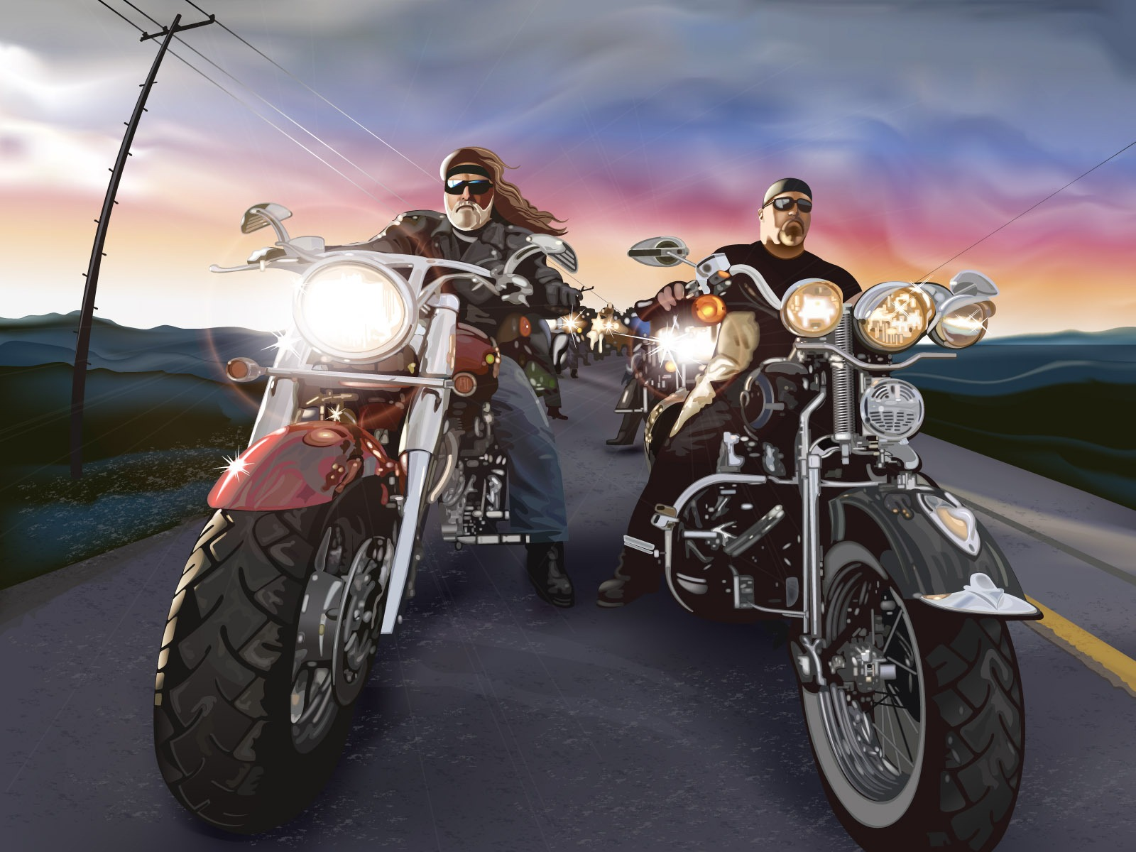 1600x1200 oldschool choppers desktop pc and mac wallpaper