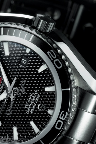 320x480 Omega Seamaster Carbon Iphone 3g Wallpaper