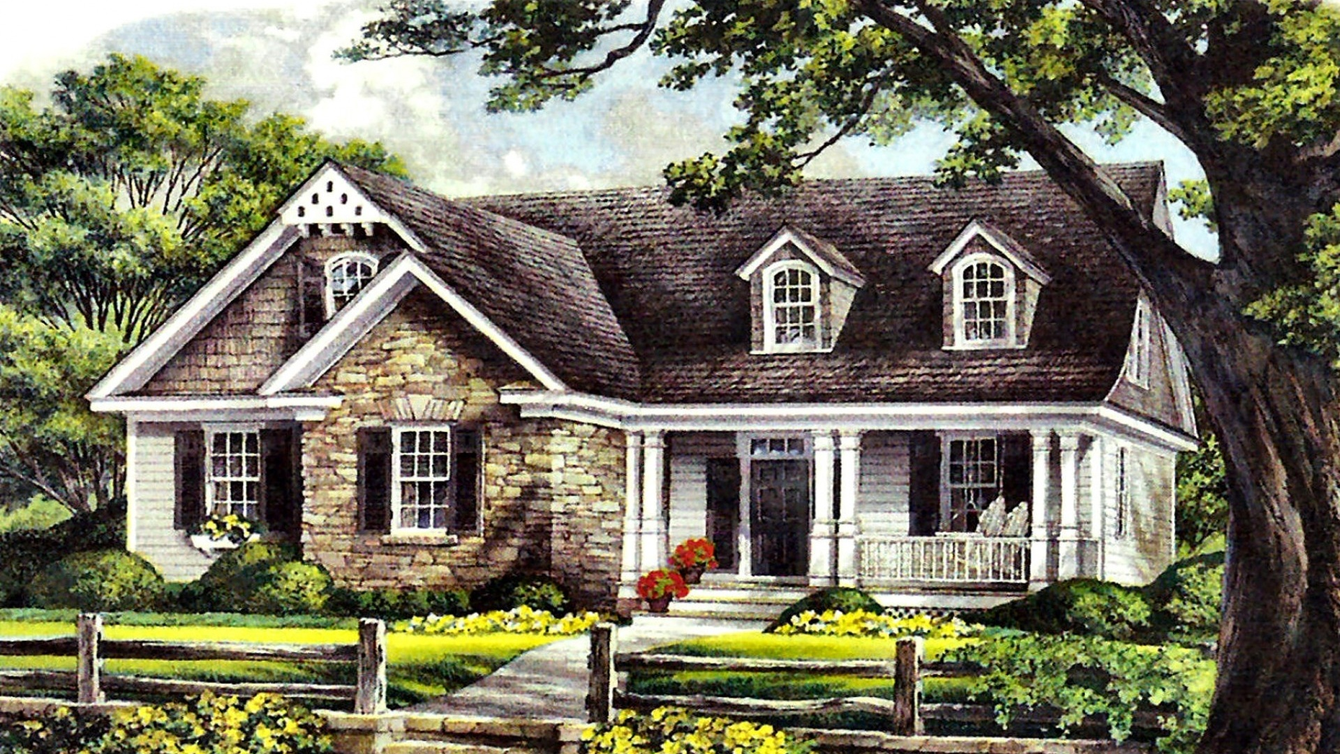 1920x1080 one story cottage desktop pc and mac wallpaper for One story cottage