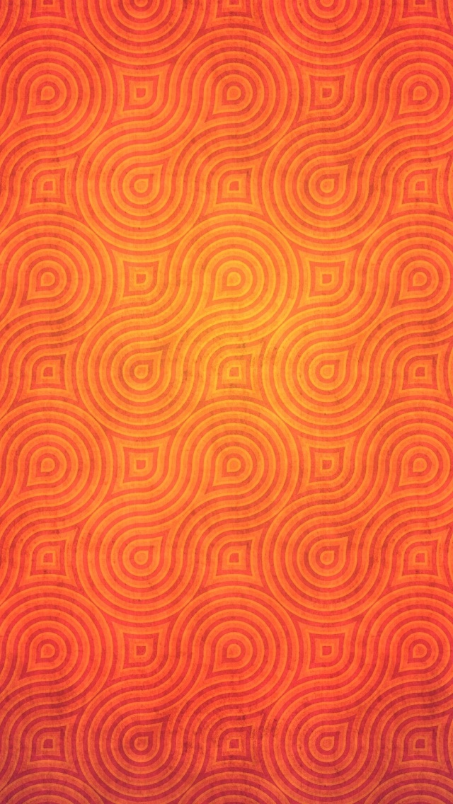 640x1136 Orange Abstract Pattern Iphone 5 Wallpaper
