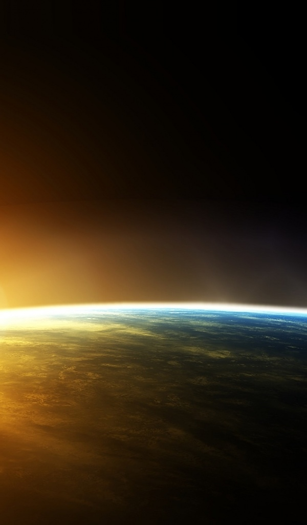 600x1024 Orange And Black, space, horizon