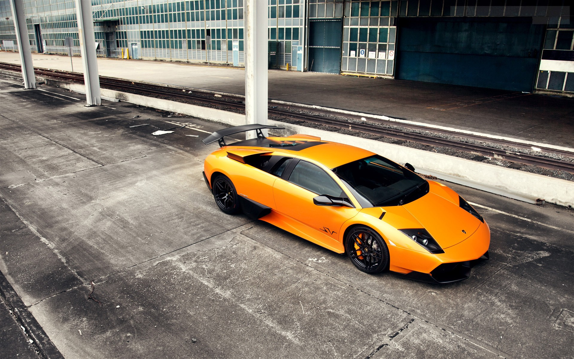 1920x1200 Orange Lamborghini Murcielago Sv Desktop Pc And
