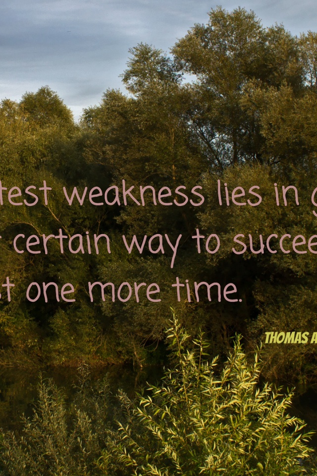 640x960 Our Greatest Weakness Lies In Quote Quotes