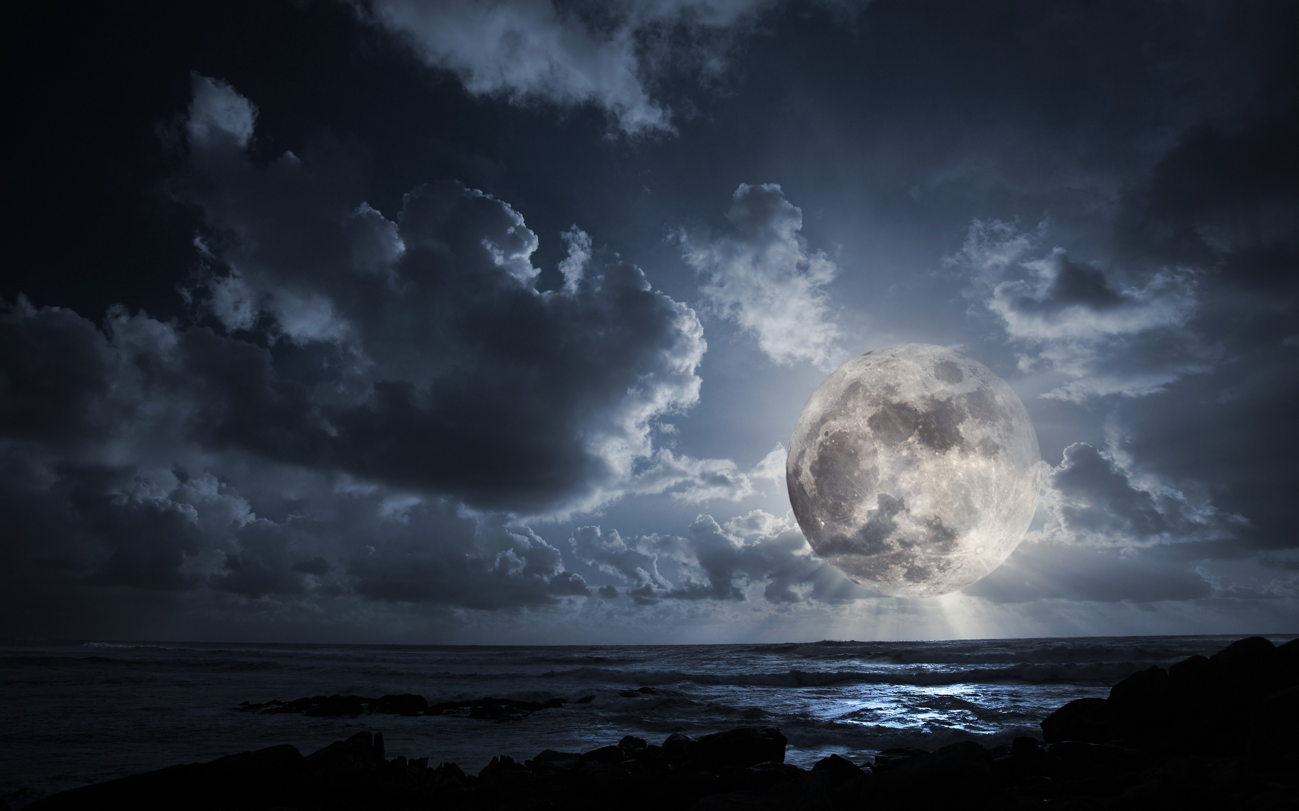 outer space dark night moon wallpapers outer space dark