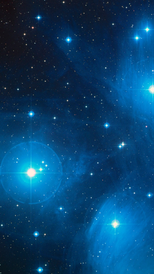 640x1136 Outer Space Pleiades Iphone 5 wallpaper