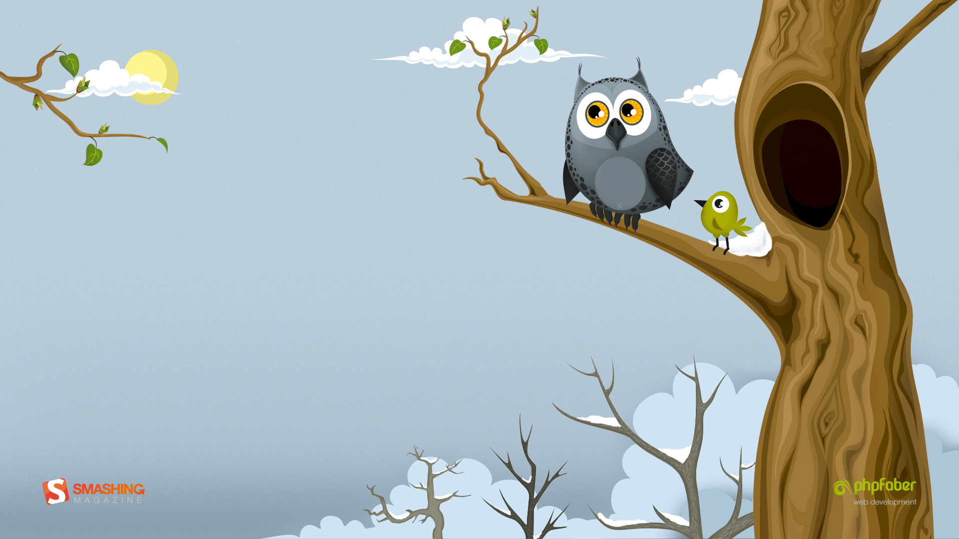 owl in the spring wallpapers 32671 1920x1080