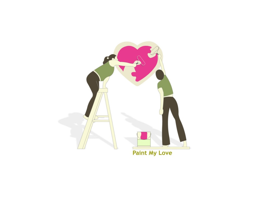 1024x768 Paint my love