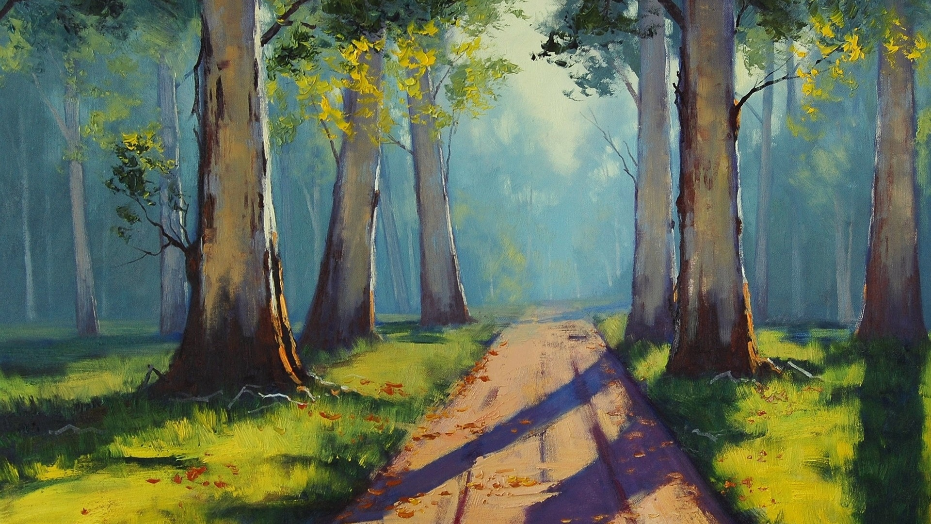 Paintings of Forest Paths Forest Path Paintings