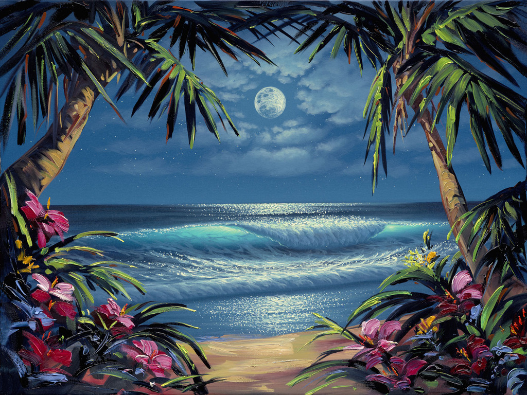 Images Of Palm Tree Paintings