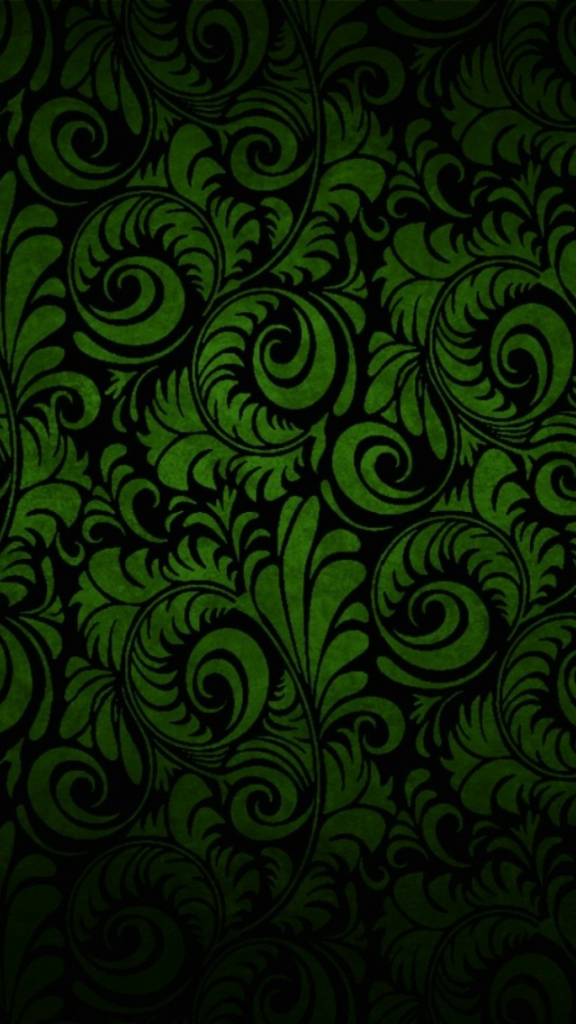 640x1136 Pattern Green Abstract Iphone 5 Wallpaper