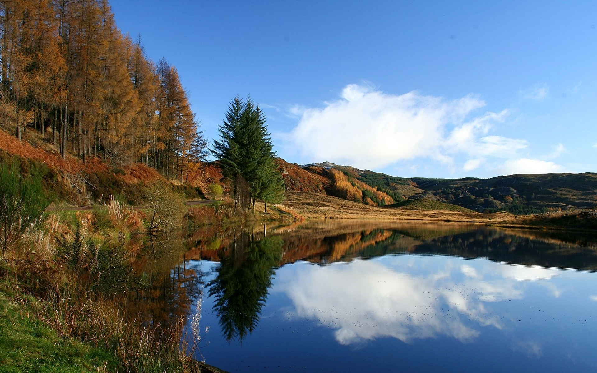 Lake Forest Sports Cars >> Peaceful Lake & Autumn Trees wallpapers | Peaceful Lake ...