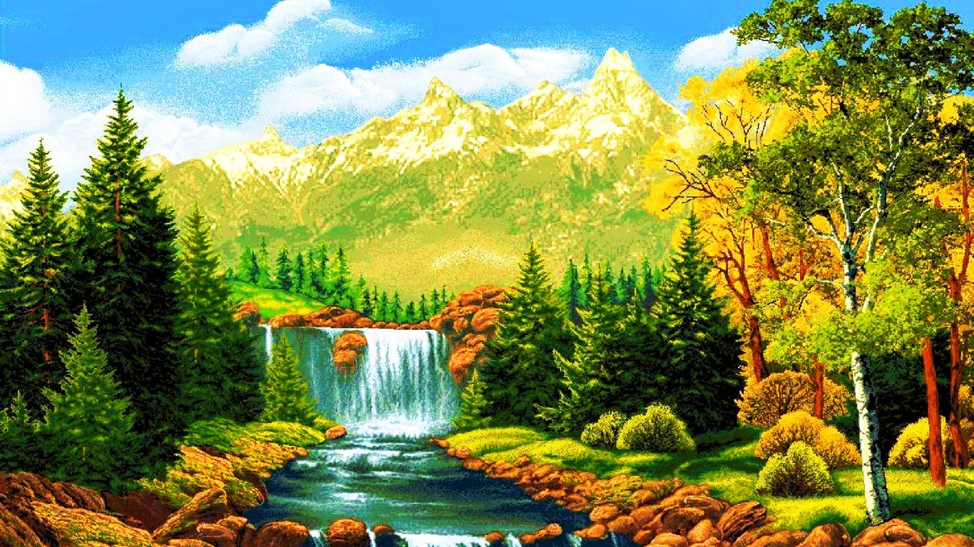 download waterfall wallpaper