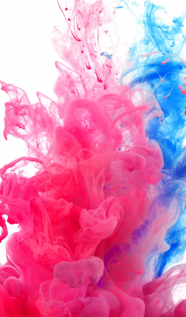 600x1024 Pink Amp Blue Smoke Rising Desktop Pc And Mac Wallpaper