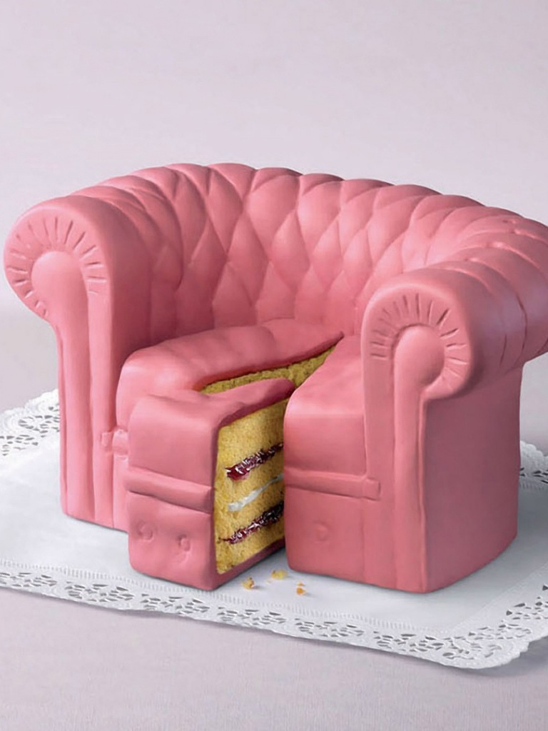 768x1024 pink cake couch ipad mini wallpaper. Black Bedroom Furniture Sets. Home Design Ideas
