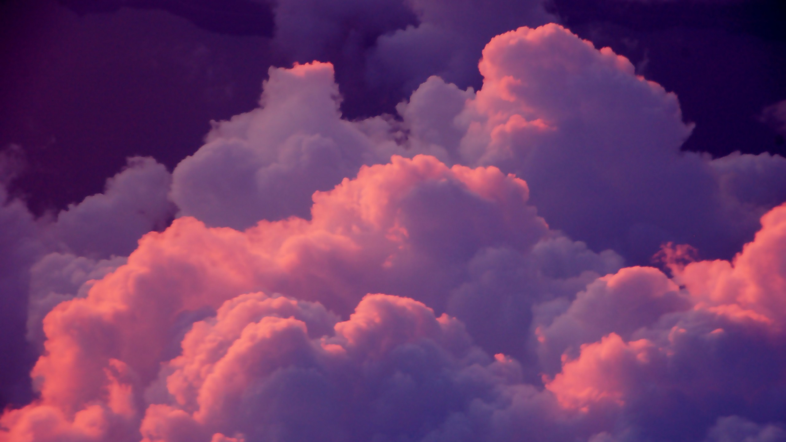 2560x1440 Pink Clouds YouTube Channel Cover