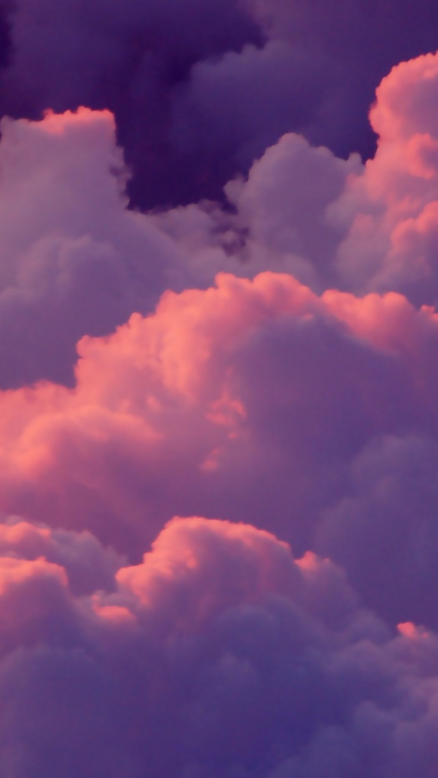 640x1136 Pink Clouds Iphone 5 Wallpaper