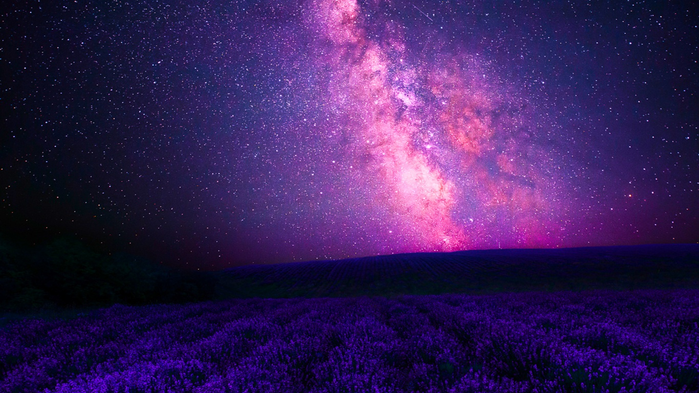 1366x768 Pink Galaxy Amp Purple Lavender Desktop Pc And Mac
