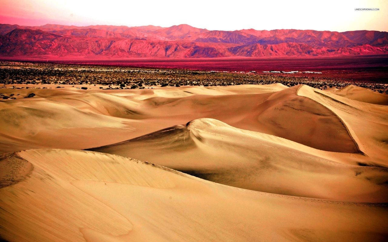 1280x800 Pink Mountains & Desert