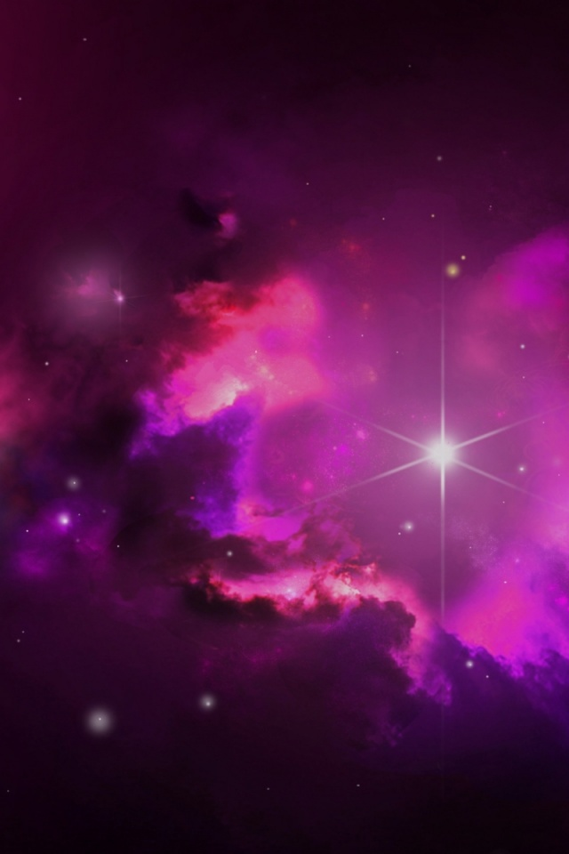 640x960 pink outer space stars iphone 4 wallpaper - Pink space wallpaper ...