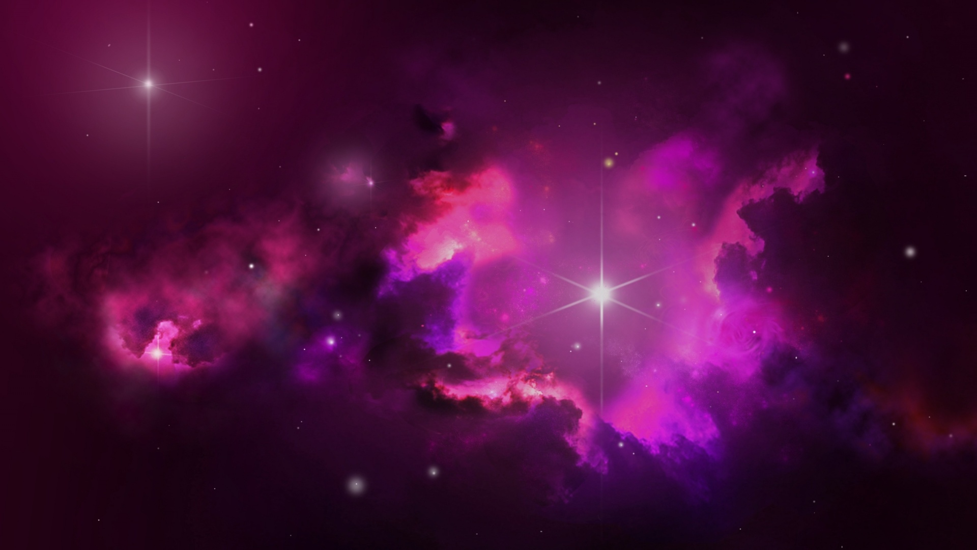 1920x1080 pink outer space stars desktop pc and mac - Pink space wallpaper ...