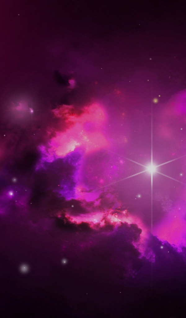 pink outer space