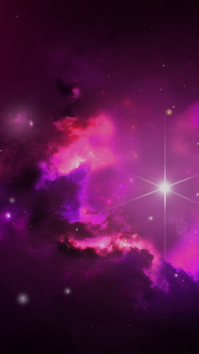 Iphone wallpaper black pink - 640x1136 Pink Outer Space Amp Stars Iphone 5 Wallpaper