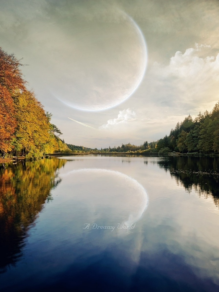 768x1024 Planet Trees Sun Dreamy River