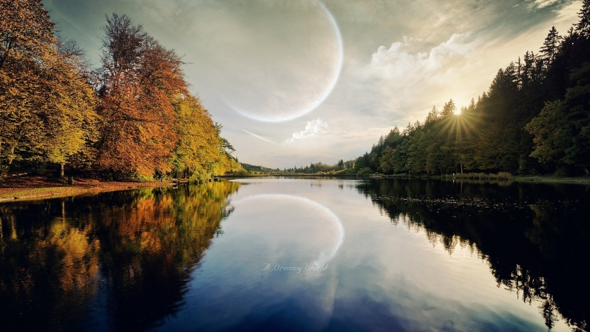 646x220 Planet Trees Sun Dreamy River