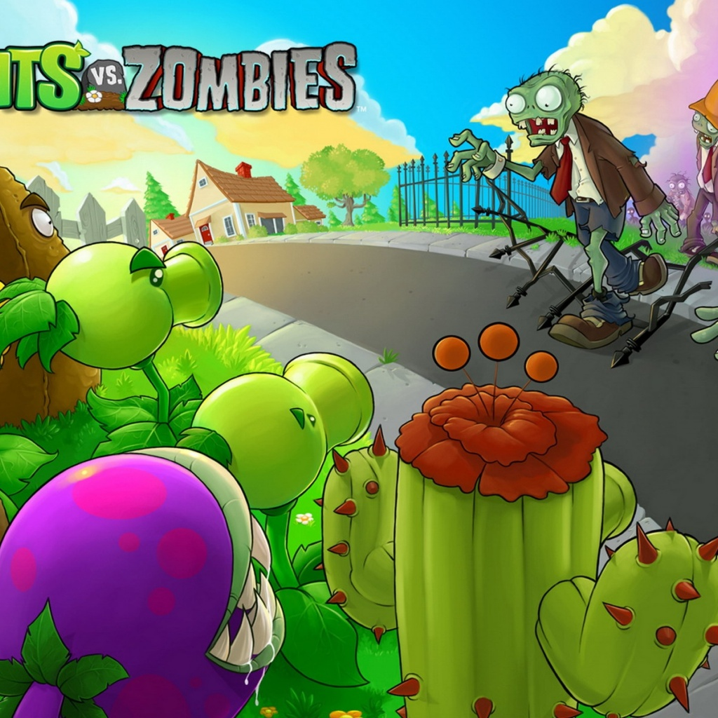 1024x1024 plants vs zombies ipad wallpaper