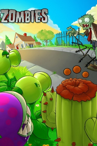 320x480 plants vs zombies iphone 3g wallpaper