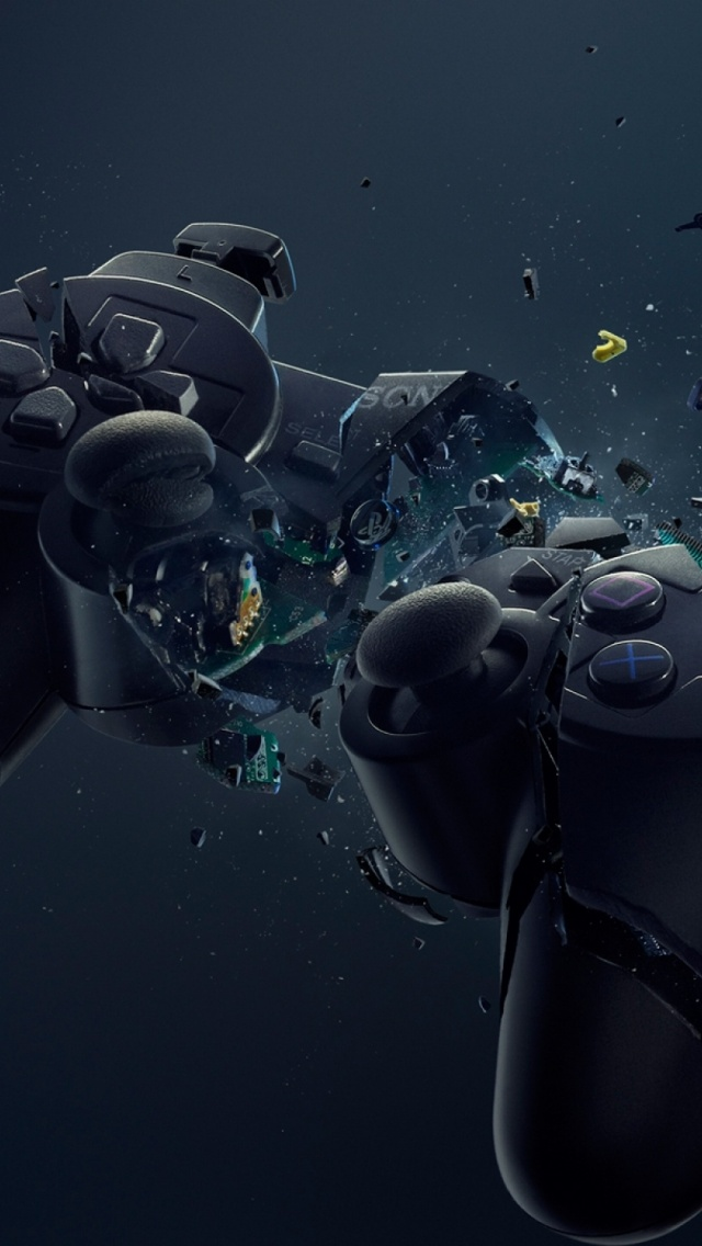 640x1136 Playstation Gamepad Crash Iphone 5 Wallpaper