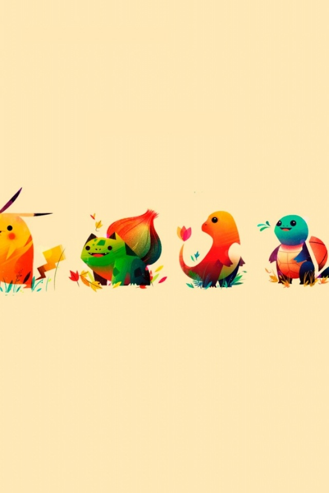 640x960 pokemon characters iphone 4 wallpaper