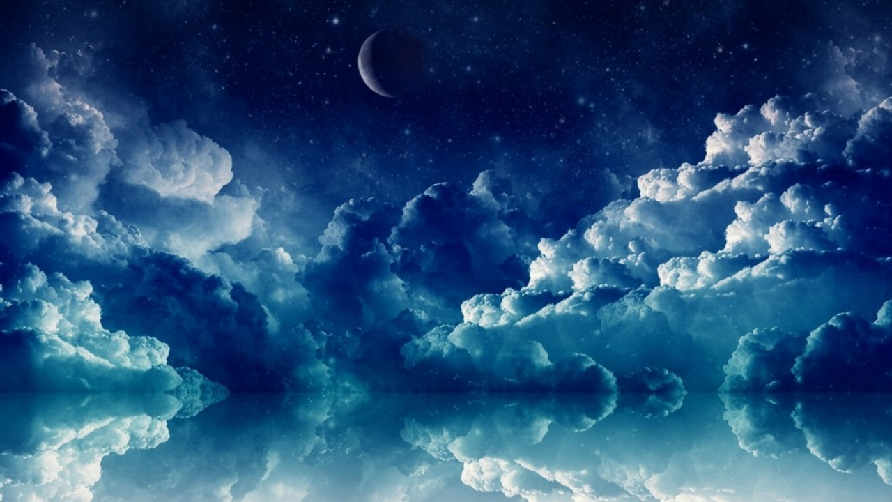 1280x720 pretty blue night desktop pc and mac wallpaper